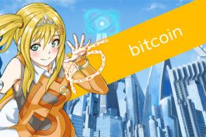 仮想通貨(暗号通貨)ビットコイン(bitcooin)の擬人化キャラクター