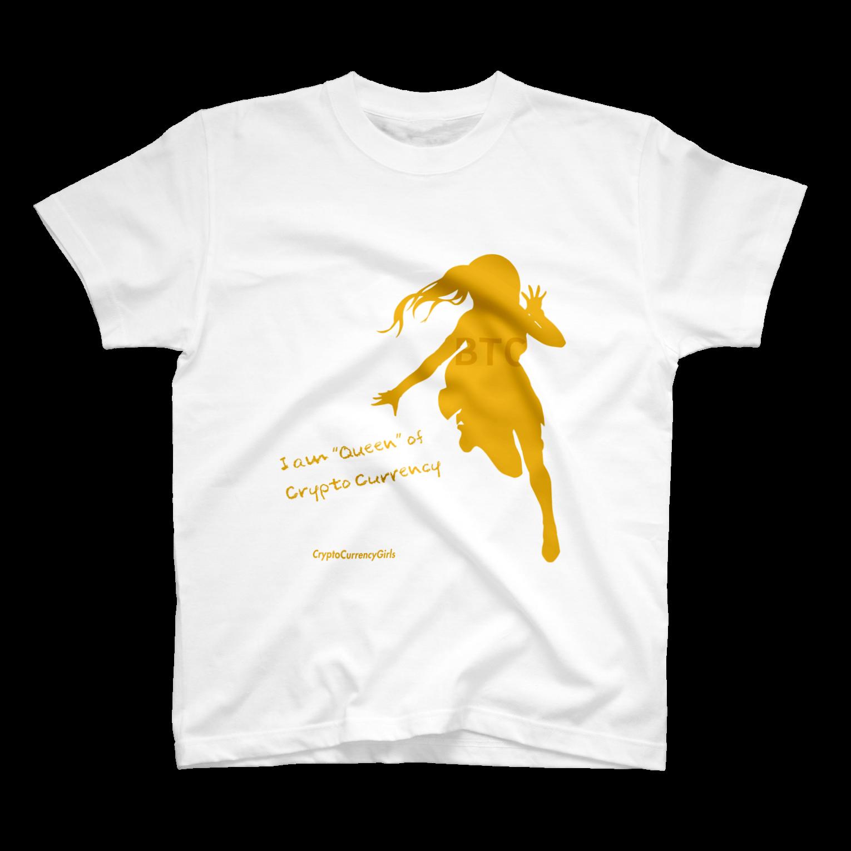 ビットコインシルエットTシャツ