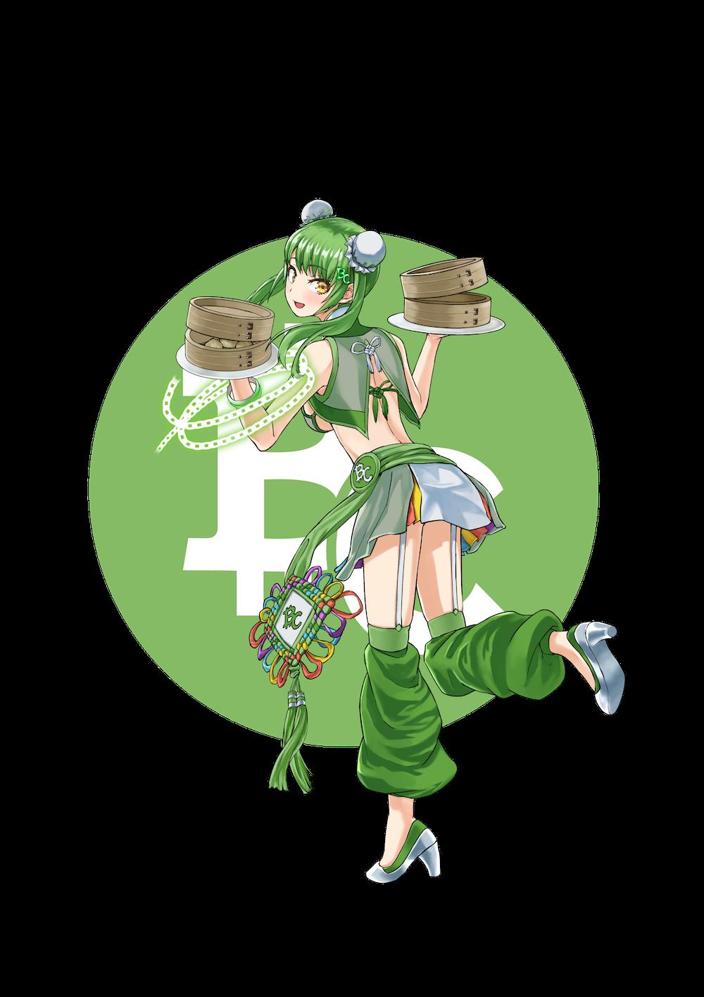 仮想通貨(暗号通貨)ビットコインキャッシュ(bitcoin cash)の擬人化キャラクター