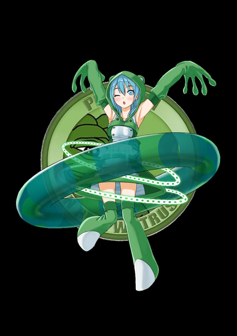 仮想通貨(暗号通貨)ペペキャッシュ(pepecash)の擬人化キャラクター