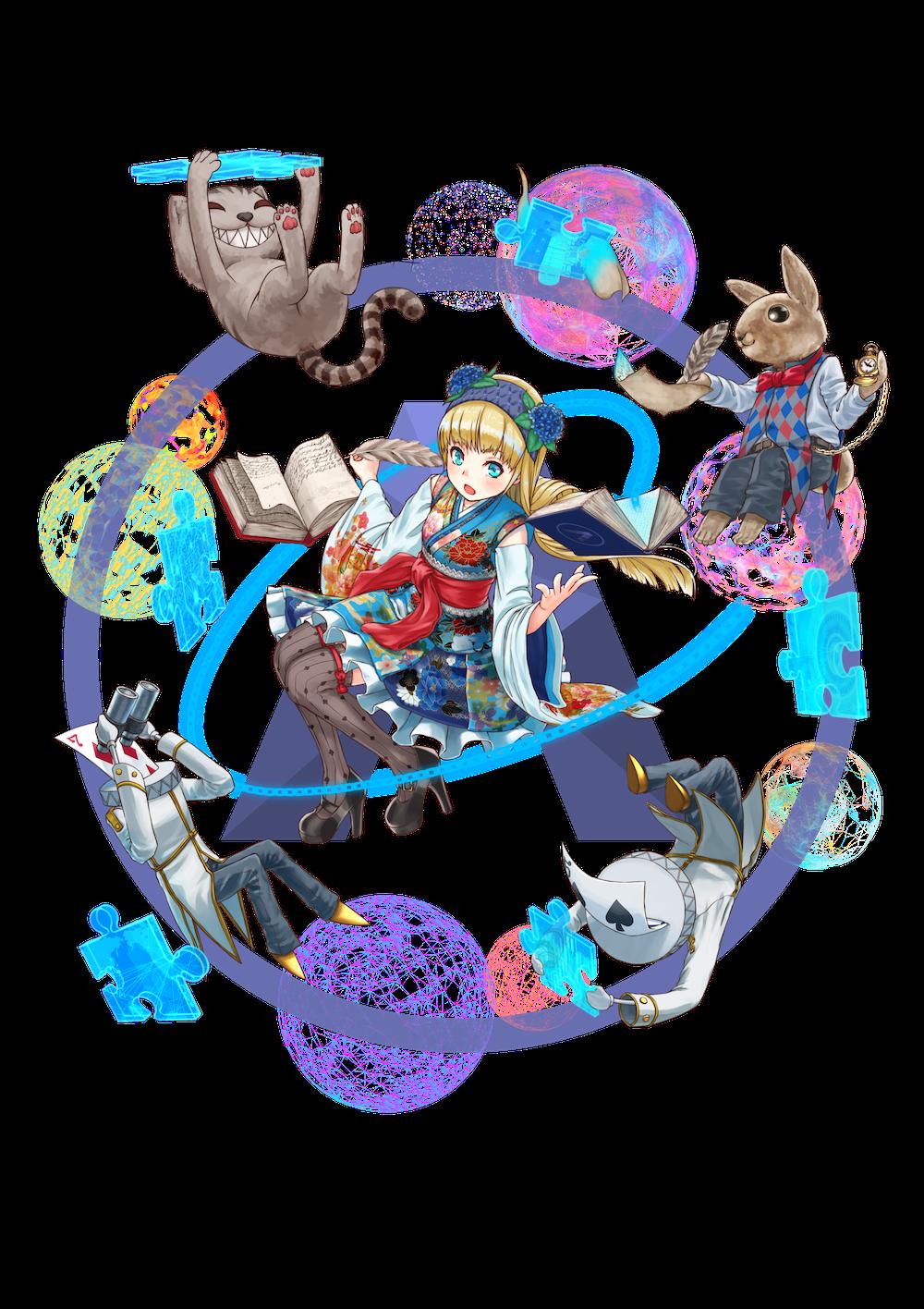 仮想通貨(暗号通貨)アリス(ALIS)の擬人化キャラクター